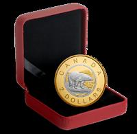 Kanada : 2 Dollar Große Münzen - Eisbär #6 5 oz vergoldet  2019 PP