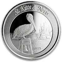 Saint Kitts : 2 Dollar Pelican 1 oz  2019 Stgl.