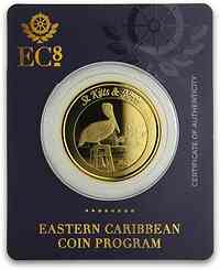 Saint Kitts : 10 Dollar Pelican   1 oz  2019 Stgl.