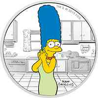 Tuvalu : 1 Dollar The Simpsons - Marge 1 oz  2019 PP