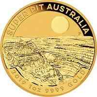 Australien : 100 Dollar Goldmine Super Pit 1 oz  2019 Stgl.
