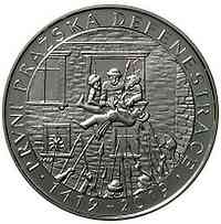 Tschechische Republik : 200 Kronen 600 Jahre 1. Prager Fenstersturz  2019 Stgl.