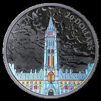 Kanada : 20 Dollar Lichter über dem Parlament  2019 PP