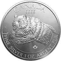 Kanada : 5 Dollar Wildlife Serie 4 - Raubtiere  2019 Stgl.