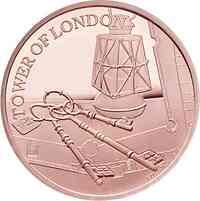 Großbritannien : 10 Pound Tower v. London - Schlüsselzeremonie   5 oz  2019 PP