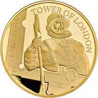 Großbritannien : 10 Pound The Tower of London – The Yeoman Warders 5 Oz  2019 PP