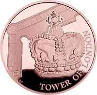 Großbritannien : 10 Pound The Tower of London – The Crown Jewels 5 Oz  2019 PP