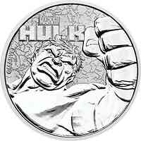 Tuvalu : 1 Dollar Hulk - Marvel Held #7 - 1 oz Bullion  2019 Stgl.