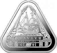 Australien : 1 Dollar Segelschiff Batavia - Dreiecksmünze 1 oz  2019 Stgl.
