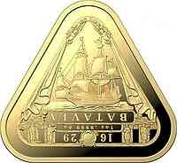 Australien : 100 Dollar Segelschiff Batavia - Dreiecksmünze 1 oz  2019 Stgl.
