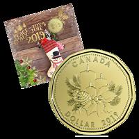 Kanada : 3,40 Dollar Weihnachtssatz (Holiday Gift Set) mit Weihnachtsdollar 2019 Stgl.