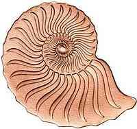 Mongolei : 1000 Tögrög Golden Ammonite - Rotgold  2019 PP