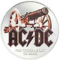 Cook Islands : 1 Dollar 2 $  AC/DC - For those about to rock   1/2 oz im Etui  2019 PP