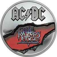 Cook Islands : 10 Dollar AC/DC - The Razors Edge  Black Proof  2 oz/Etui  2019 PP