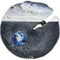 Cook Islands : 2 Dollar Estacado Meteorit - Titan-Silber    im Etui  2019 Stgl.