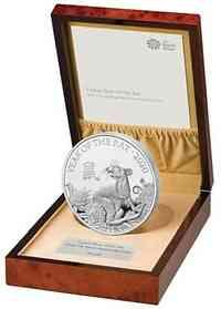 Großbritannien : 500 Pound Lunar Ratte 1 kg  2019 PP