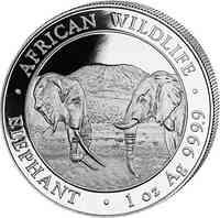 Somalia : 2000 Schilling Elefant - 1 kg  2020 Stgl.