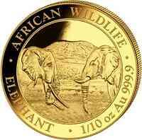 Somalia : 100 Schilling Elefant   1/10 oz  2020 Stgl.