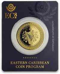 Ost Karibische Staaten : 10 Dollar Montserrat - Smaragdinsel 1 oz 2019 Stgl.