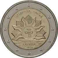 Lettland : 2 Euro Die aufgehende Sonne  2019 bfr