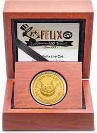 Niue : 25 Dollar 100 Jahre Felix the Cat  2019 PP