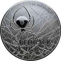 Australien : 1 Dollar Redback Spider   1 oz  2020 Stgl.