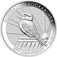 Australien : 1 Dollar 30 Jahre Kookaburra - Jubiläumsausgabe  1 oz  2020 Stgl.