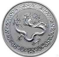 Niue : 2 Dollar Green Dragon - Celestial Animals #1   1 oz  2019 Stgl.