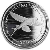 Barbados : 1 Dollar Flying Fish 1 oz 2019 Stgl.