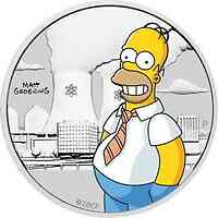 Tuvalu : 15 Ct The Simpsons - Homer   1/2 oz  in Coincard  2020 Stgl.