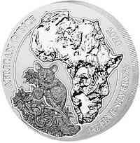 Ruanda-Urundi : 50 RWF Buschbaby  1 oz  2020 Stgl.