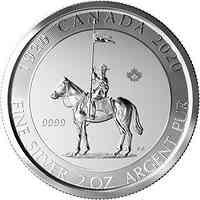 Kanada : 10 Dollar Mounted Police  2 oz  2020 Stgl.