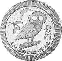 Niue : 2 Dollar Eule von Athen  2020 Stgl.