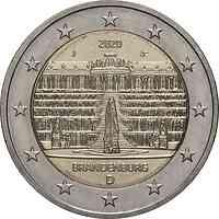 Deutschland : 2 Euro Brandenburg - Schloss Sanssouci Buchstabe unserer Wahl   2020 bfr