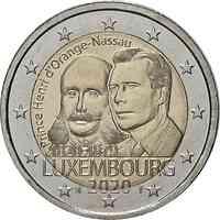 Luxemburg : 2 Euro 200. Geburtstag von Prinz Heinrich von Oranien-Nassau  2020 bfr