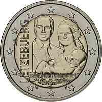 Luxemburg : 2 Euro Prinz Charles / Reliefprägung  2020 bfr