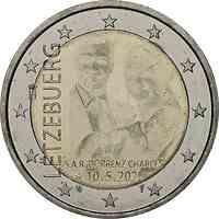 Luxemburg : 2 Euro Prinz Charles / Hologramm  2020 bfr
