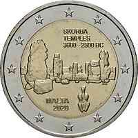 Malta : 2 Euro Tempel von Skorba  2020 bfr