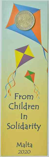 2 Euro Gedenkmünze 2020 / 2 Euro Sondermünze 2020 Malta Von Kindern mit Solidarität - Spiele
