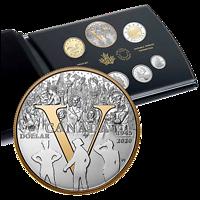 Kanada : 4,90 Dollar Kurssatz 75 Jahre Ende WW2 – VE Day 2020 PP