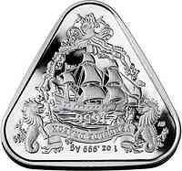 Australien : 1 Dollar Segelschiff Gilt Dragon - Dreiecksmünze 1 oz 2020 Stgl.