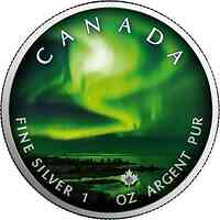 Kanada : 5 Dollar Maple Leaf - Nordlichter Yellowknife Yukon #2 2020 Stgl.