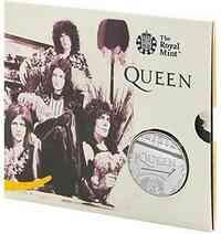 Großbritannien : 5 Pfund Queen - Musiklegenden im Blister  2020 Stgl.