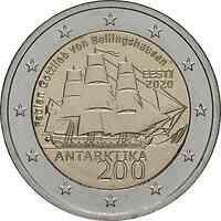 Estland : 2 Euro 200. Jahrestag der Entdeckung der Antarktis  2020 bfr