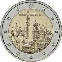 Litauen : 2 Euro Berg der Kreuze  2020 bfr