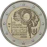 Slowakei : 2 Euro 20. Jahrestag des Beitritts zur OECD  2020 bfr