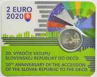 2 Euro Gedenkmünze 2020 / 2 Euro Sondermünze 2020 Slowakei 20. Jahrestag des Beitritts zur OECD