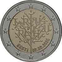 Estland : 2 Euro 100 Jahre Friedensvertrag von Tartu  2020 bfr