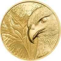 Mongolei : 1000 T Majestic Eagle - im Etui  1/10 oz  2020 PP