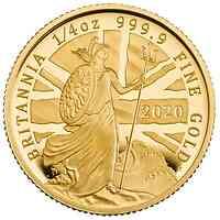 Großbritannien : 25 Pound Britannia 1/4 Oz  2020 PP